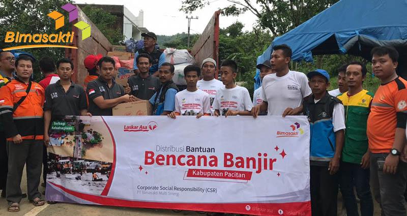 CSR Bimasakti Sambangi Korban Bencana Pacitan