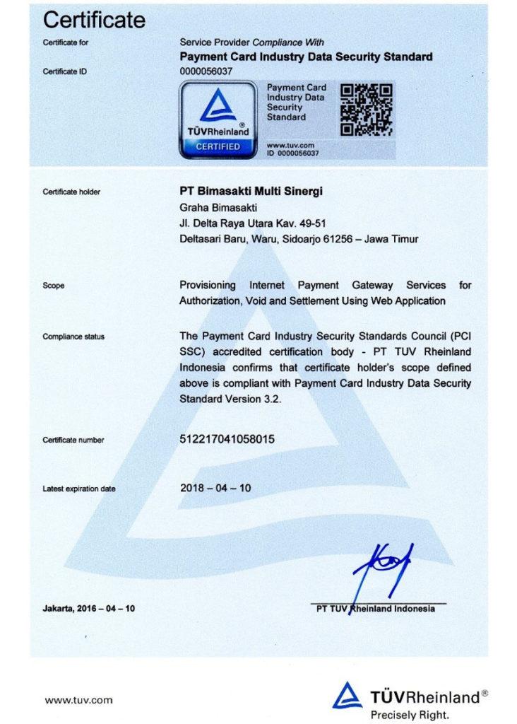Sertifikasi PCI DSS