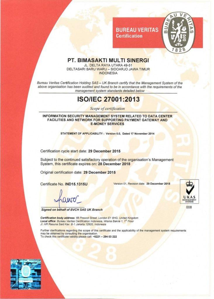 Sertifikasi ISO 27001:2013