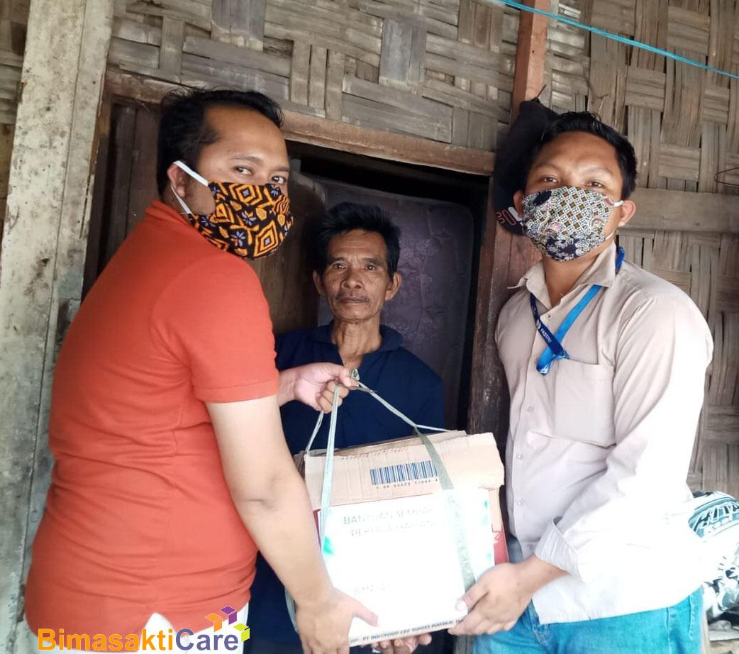 Bimasakticare Memberikan Bantuan Sembako Dampak Covid-19 kepada para Pekerja Harian