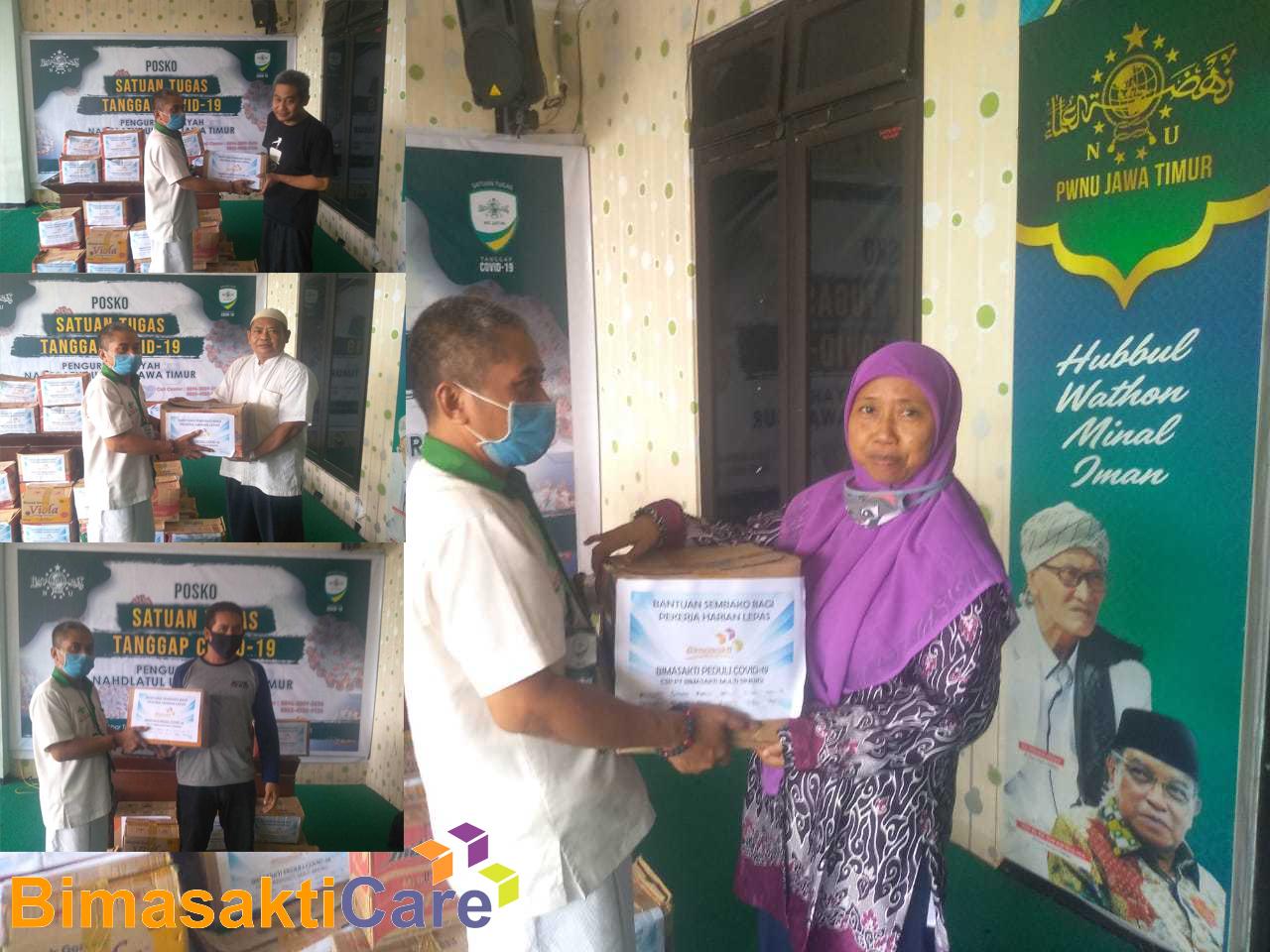 BimasaktiCare dan PWNU Surabaya Bagikan Sembako terdampak Covid 19