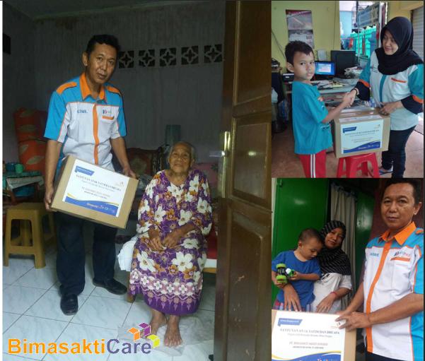 Santunan Anak Yatim dan Dhuafa BimasaktiCare Bersana Mitra Fastpay Jakarta Selatan
