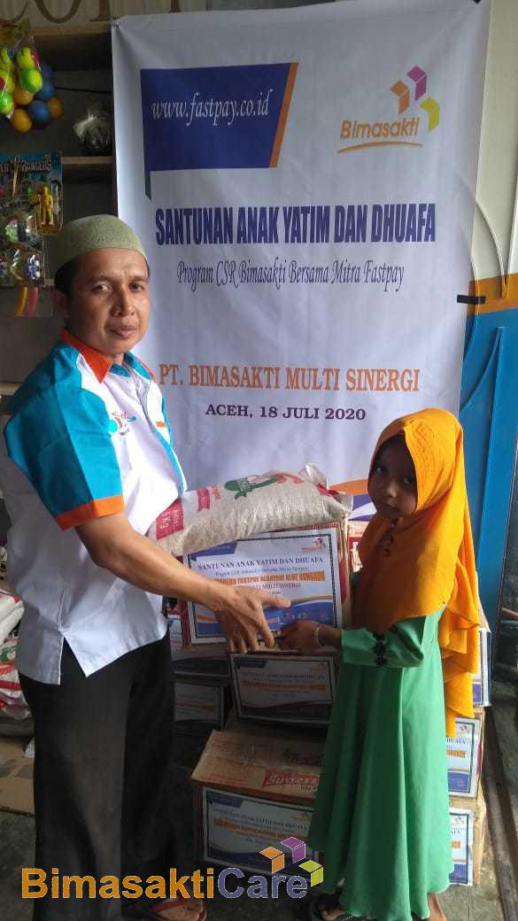 Kegiatan Santunan Anak Yatim dan Dhuafa Bimasakticare Bersama Mitra Fastpay di Aceh
