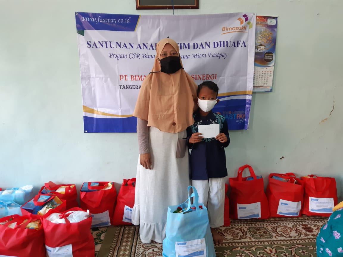 Bersama Mitra Fastpay, BimasaktiCare Salurkan Santunan Kepada Anak Yatim dan Dhuafa di Kota Tangerang Selatan