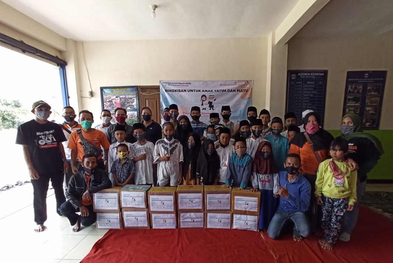 Bimasakticare Bersama dengan Mitra Fastpay Membagikan Bingkisan untuk Anak Yatim dan Piatu Di Kab. Bandung